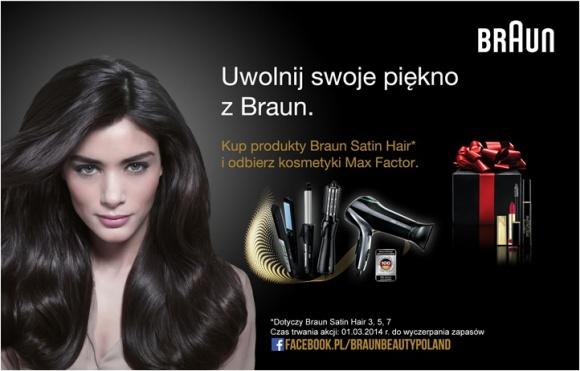 """Nowa promocja konsumencka """"Uwolnij swoje piękno z Braun"""""""