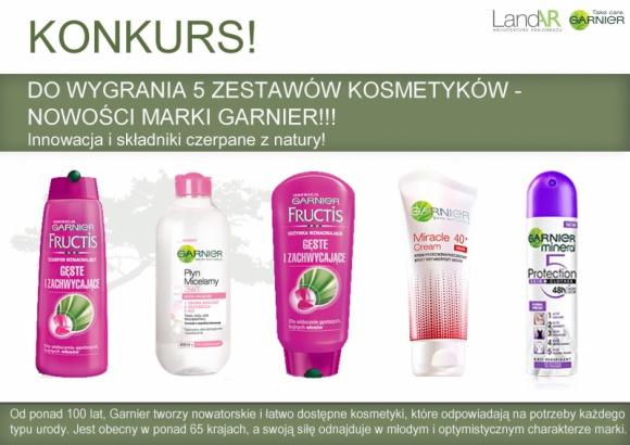 LandAR – konkurs z nowościami marki Garnier