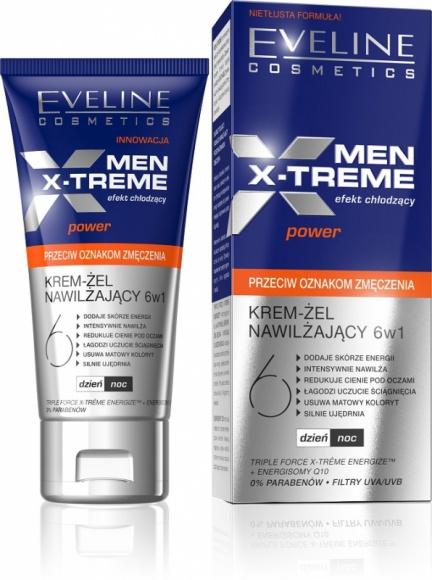 MEN X-TREME Krem – żel nawilżający przeciw oznakom zmęczenia Eveline Cosmetics