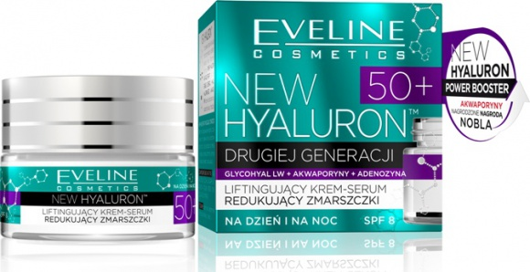 Eveline Cosmetics Liftingujący Krem-Serum Redukujący Zmarszczki 50+