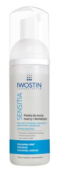 Pianka do mycia twarzy i demakijażu Iwostin Sensitia®