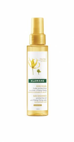 Klorane olejek do włosów na bazie wosku Ylang-Ylang ochrona UV