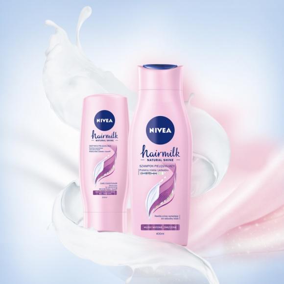 Uwolnij blask z nową wygładzającą mgiełką NIVEA Hairmilk Natural Shine