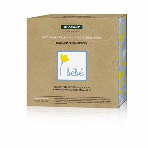 Klorane zestaw kosmetyków Bebe naturalna pielęgnacja od 1. Dnia Życia