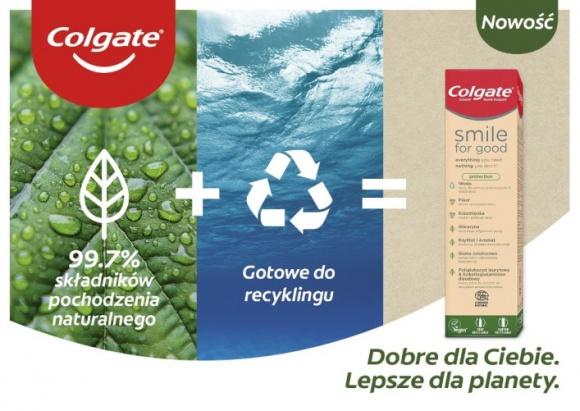 Nowa pasta Colgate Smile for Good w tubce nadającej się w pełni do recyclingu