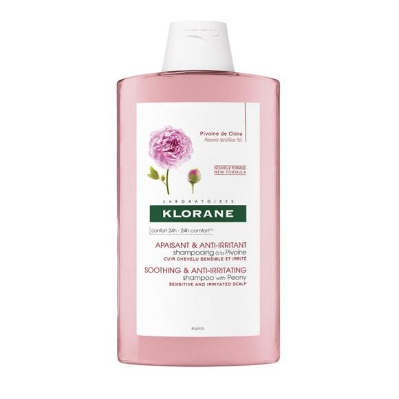 Klorane szampon dla wrażliwej skóry głowy na bazie wyciągu z Piwonii