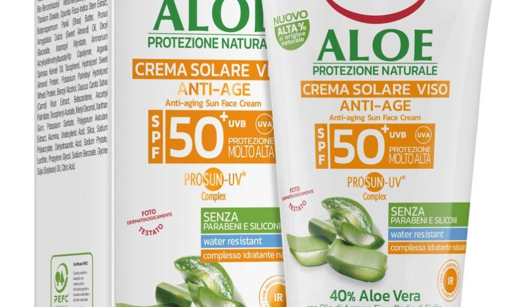 Aloesowy przeciwzmarszczkowy krem przeciwsłoneczny SPF 50+
